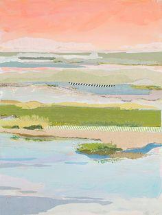Karin Olah, fabric, mixed media, fine art paintings, abstract, floral, textile, fiber art