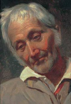 Szinyei Merse Pál (1845-1920) - Férfi tanulmányfej