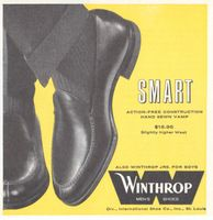 Winthrop Vamp Mens Shoes 1959 Ad Picture