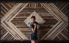 Wow - Ariele Alasko reclaimed wood wall