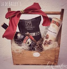 Bailey's gift basket with coffee and chocolate