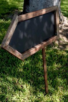 Double Sided Blackboard Arrow with Stake 24in