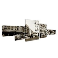 """Parisian Intersection"" 5-piece Canvas Wall Art Set"