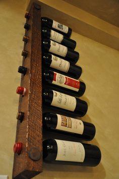 Tuscan Wine Rack 8 Bottle stacked by VetrinaDelVino on Etsy, $55.00