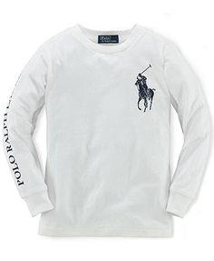 Ralph Lauren Kids T-Shirt, Little Boys Long-Sleeve T-Shirt