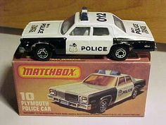 Matchbox Plymouth police car, 1979
