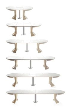 We love this round expandable dining table design by Italian Bauline. The innovative Opera expandable table is the perfect setting to host a dinner for two or a dozen,...