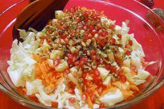 www.gr Festive Winter Mediterranean Salad via Paravantes-Hargitt Greek Potato Salads, Sauerkraut Recipes, Veggie Fries, Winter Salad, Mediterranean Diet Recipes, Cabbage Salad, Veggie Dishes, Greek Recipes, Have Time