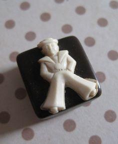 Vintage Sailor Bakelite Button