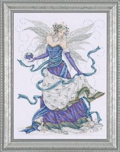 Design Works Counted Cross Stitch Picture Kit - Ice Fairy