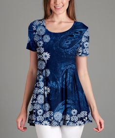 Take a look at this Blue Floral & Paisley Tunic - Plus Too today!