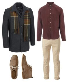 """""""#outfit #man #casual"""" by anita-barrera on Polyvore featuring Chor, Hush Puppies, Oliver Spencer, men's fashion and menswear"""
