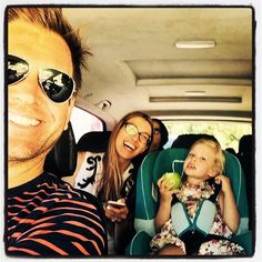 Michael Weatherly and his wife, Bojana, and their daughter, Olivia.