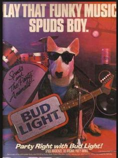 Bud light spuds mckenzie commercials my memories tv pinterest bud light mozeypictures Choice Image