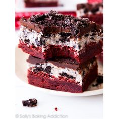 Red velvet brownies + cookies and cream frosting + chocolate ganache = the dessert of our dreams.