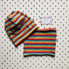 Cute Outfits For Kids, Cute Kids, Slouchy Beanie Hats, Toddler Bibs, Kids Beanies, Dribble Bibs, Hat And Scarf Sets, Rainbow Print, Loop Scarf
