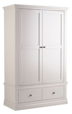 Lovely Toulouse Double Wardrobe with Drawers Painted Top