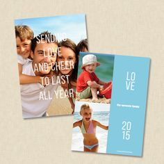 sheer cheer holiday photo card by Carol Fazio - RUVAcards- $1.20, great card for those wonderful summer shots