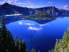 Oregon also is home to the deepest lake in America. With a depth of 1,932 feet, Crater Lake is a sight not to be missed. Deep, deep blue on a brilliant day, surrounded by the evergreen forest, Crater Lake is a uniquely wondrous and beautiful piece of Oregon's gorgeous terrain.