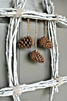 Pinecone Twig Wreath  (woodsy, woodlands, forest, outdoors, craft, decor)  http://www.hometalk.com/766985/pine-cone-twig-wreath