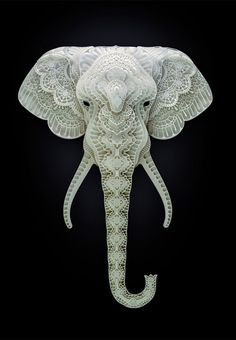 Unbelievable stunning paper art!! The artist Patrick Cabral has cooperated with several charity institutions to make beautiful paper art that supports the fight to save endangered species. 50% of the income from the sale of the art pieces goes to WWF's work for saving the animals.
