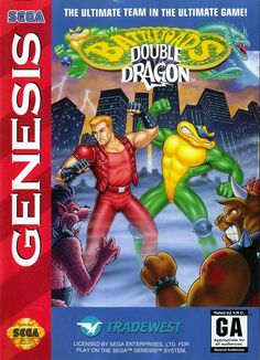 Battletoads / Double Dragon Genesis Front Cover