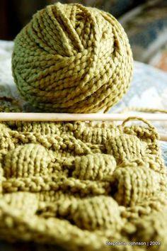 lumpy scarf - organic cotton yarn