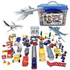 Assorted Airport Playset With Sound Jumbo Jet Plane Aeroplane Sky Machine Toy