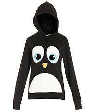 Black (Black) Black Penguin Face Hoodie