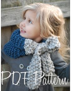 Knitting PATTERN-The Savannah Cowl Child Adult sizes