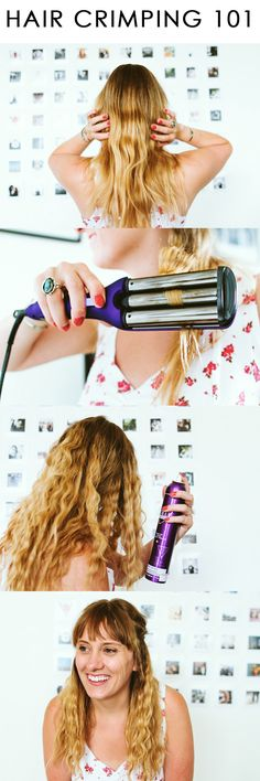 How to Crimp Your Hair featuring @sallybeauty #giveaway #sallybeautybeaches  #ad