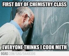 First day of chemistry class