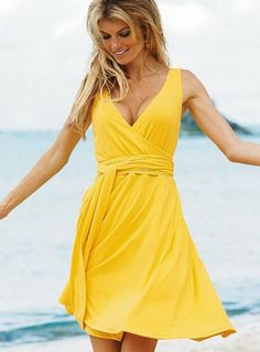 miranda kerr, so beautiful in a yellow sundress | Beauty ...