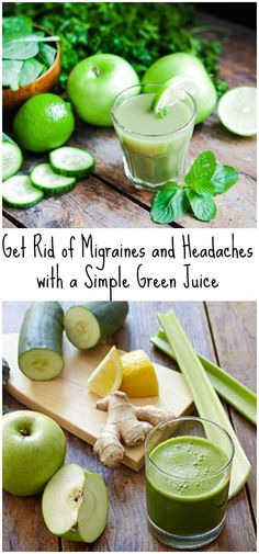 Get Rid of Migraines And Headaches With A Simple Green Juice
