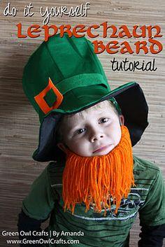 green owl crafts: {Little Leprechaun Beard} St. Patrick's Day Craft