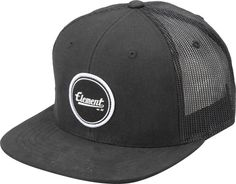 Gorra/Cap/Mens Element Trucker Impact Flint Black Street Skate Urban