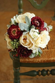 Burgundy and Cream Rustic Succulents by SouthernGirlWeddings, $145.00