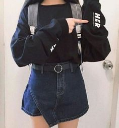 Find images and videos about girl, fashion and style on We Heart It - the app to get lost in what you love. Japanese Fashion, Asian Fashion, 90s Fashion, Girl Fashion, Fashion Looks, Fashion Outfits, Womens Fashion, Fashion Trends, Grunge Style