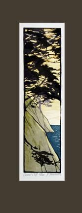 Carmel Cliff - Arts & Crafts Press not quite PNW but close by Block Prints, Yamamoto, Woodblock Print, Pacific Northwest, Cliff, Art Lessons, Printmaking, Landscapes, Arts And Crafts