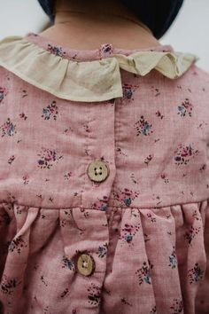 Such pretty details and fabrics on this little girl's blouse.  #estella #kids #fashion