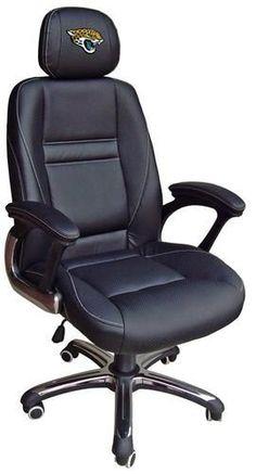 Jacksonville Jaguars Leather Office Chair Head Coach Chair