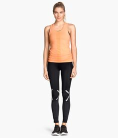 Black running tights with functional fabric 5334850af4