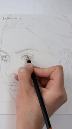 Become a patron of Emmy Kalia today: Read 95 posts by Emmy Kalia and get access to exclusive content and experiences on the world's largest membership platform Girl Drawing Sketches, Art Drawings Sketches Simple, Pencil Art Drawings, Realistic Drawings, Drawing Lips, How To Draw Realistic, Drawings Of Eyes, Crazy Drawings, Beautiful Pencil Sketches