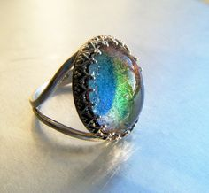 Mood Ring Sterling Silver Size 6.5 by CandiSuesCreations on Etsy, $47.00