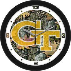 Mens Georgia Tech Yellow Jackets - Camo Wall Clock