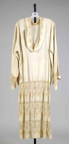 Dress Date: ca. 1920 Culture: French Medium: Linen, cotton Accession Number: 2009.300.7543