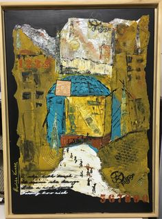 """Das große Tor"" 50x70 Collage auf Leinwand 4/17 Angelika Kunze"