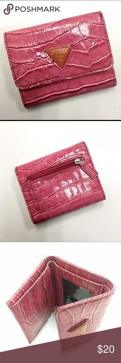 Guess trifold wallet Ladies vintage Guess wallet. Pink leather and very clean - excellent condition. Guess Bags Wallets