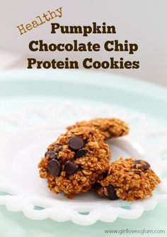 Business Cookware Ought To Be Sturdy And Sensible Healthy Pumpkin Chocolate Chip Protein Cookies On Healthy Chocolate Chip Cookies, Protein Cookies, Pumpkin Chocolate Chips, Protein Snacks, Protein Cake, Protein Muffins, Protein Recipes, Healthy Cookies, High Protein