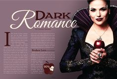 Fictional Magazine I created with a focus on Lana Parrilla from Once Upon a Time the tv series. The magazine itself is directed towards woman. By Courtney Martinez.
